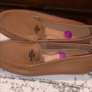 Tan/brown coach loafers